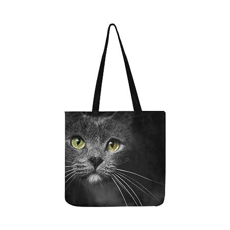 Bozal de un gato con ojos verdes para gatos, bolso de mano, bolso ...