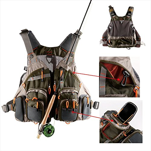 Lowpricenice Mesh Fly Fishing Vest (Adjustable Size)