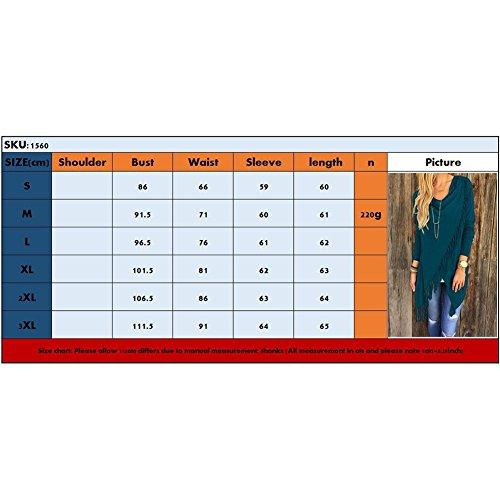 Maglione Hibote Colori Lunghe Nappa Xxl Cappotti S Donna M L Maglia Donne Maglieria In Rosso Cappotto A Top 5 Invernale Maniche Irregolare Xl Cardigan Outwear wgqYTqt