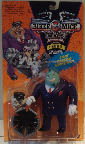 Biker Mice from Mars: Lawrence Limburger action figure - with giant working mousetrap
