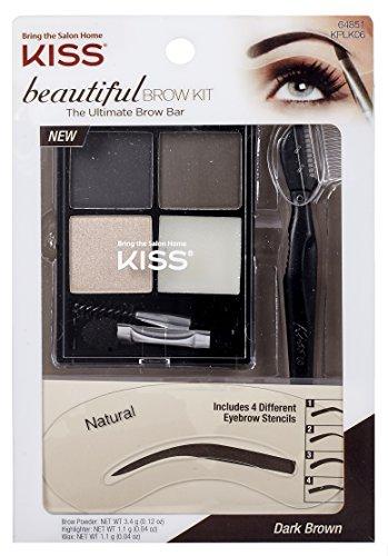 Kiss Beautiful Brow Kit Dark Brown
