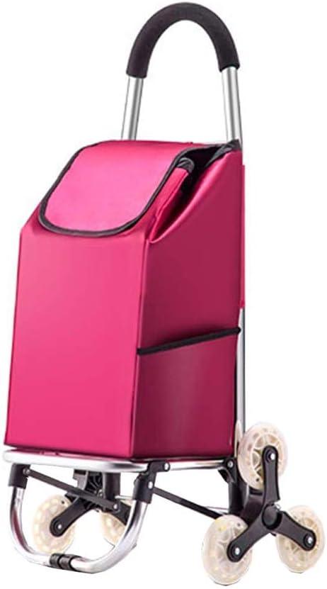 Cooralledtooere El carro plegable para carros sube las escaleras, tira del remolque de equipaje, compra un carrito pequeño, bolsas de compras, telas impermeables, compras livianas, escaleras fáciles p: Amazon.es: Hogar