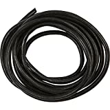Leather Cord, 4 mm, black, 2 m