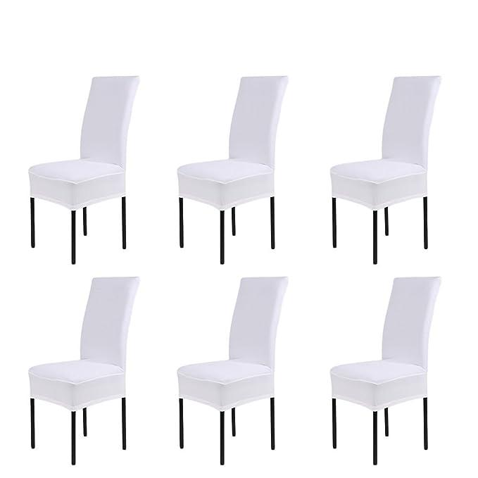 Cubierta para sillas de varios colores, ideal para decorar en banquetes, fiestas, cumpleaños - Pack De 6 unidades.