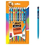 BIC Xtra-Strong Mechanical Pencil, Colorful Barrel, Thick Point (0.9mm), 24-Count