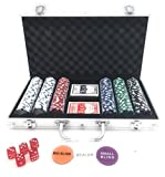 LANSH 300 Piece Poker Set with Aluminum Carrying Case