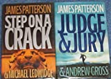 Lot of 2 James Patterson (Step on a Crack & Judge and Jury) Hardback First Edtion