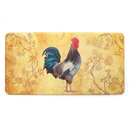 (Stephan Roberts STRB-15793-10 Anti-Fatigue kitchen mat, 20'' x 39'', Harvest Rooster)