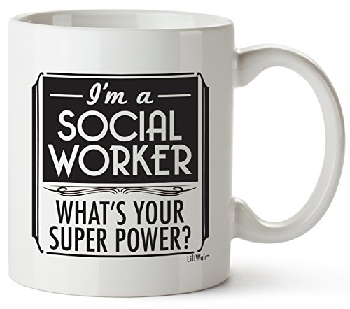 Fathers Day Gifts for Social Workers, For Women Boyfriend Girlfriend Best Funny Birthday Gift Ideas Workers Prime Clinical Appreciation School Hospice Office Desk Appreciating Cheap Gag Cup Mug