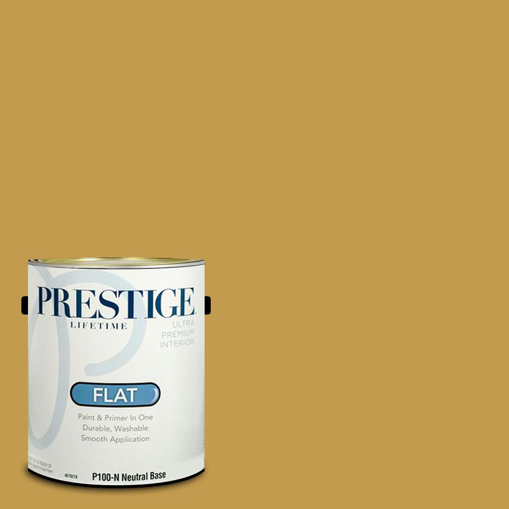 Prestige Paints Interior Paint and Primer In One, 1-Gallon, Flat,  Comparable Match of Benjamin Moore Antique Bronze by Prestige Paints
