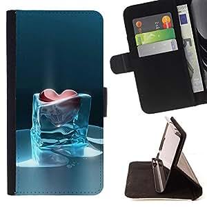 - Queen Pattern FOR Samsung Galaxy S5 V SM-G900 /La identificaci????n del cr????dito ranuras para tarjetas tir????n de la caja Cartera de cuero cubie - heart of glass frozen heart