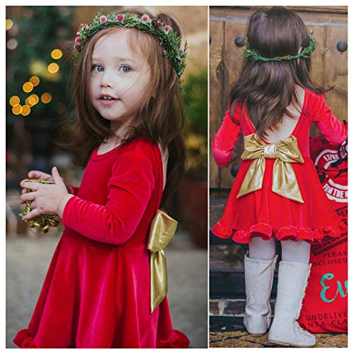 Christmas Dresses for Girls - Velvet Princess Ruffles