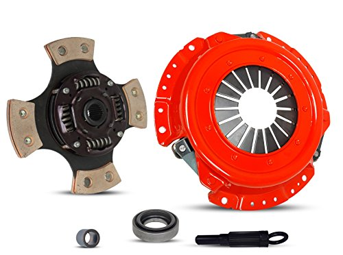 Clutch Kit Works With Set Nissan 240Sx Base Se Le Coupe Hatchback Convertible 2-Door 1991-1998 2.4L L4 GAS DOHC Naturally Aspirated (KA24DE; 5 Speed; 4-PUCK DISC STAGE 3)