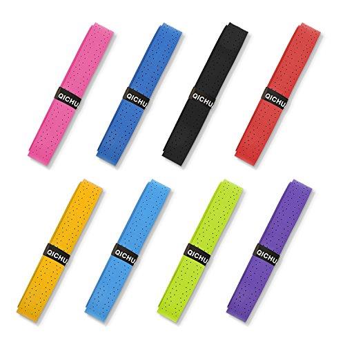 QICHUAN 8 PCS Badminton Squash Tennis Racket Grip Tapes Anti-Slip Overgrip