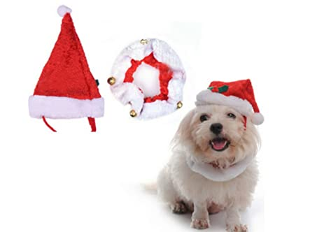 66ffe3363d515 pet holiday accessories dog christmas hat and christmas collar christmas  decoration small