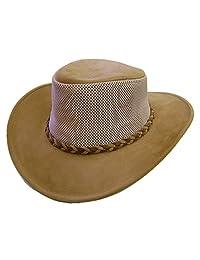Modestone Unisex Crushable Henschel Suede/Mesh Cowboy Hat