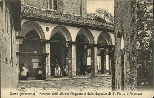 (Verna - Facciata della Chiesa Maggiore e della Cappella di S. Pietro d'Alcantara Original Vintage Postcard)