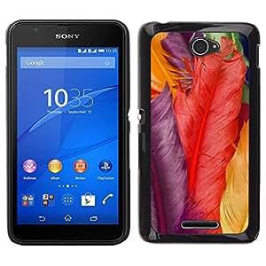 // PHONE CASE GIFT // Duro Estuche protector PC Cáscara Plástico Carcasa Funda Hard Protective Case for Sony Xperia E4 / Colors Red Yellow Violet /