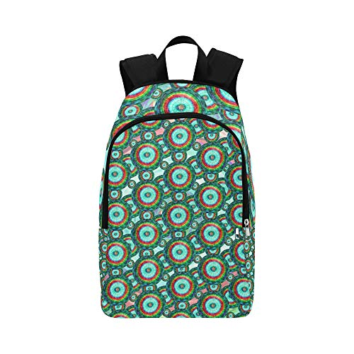 AIKENING Circles Psychedelic Decoration Design Geometric Casual Daypack