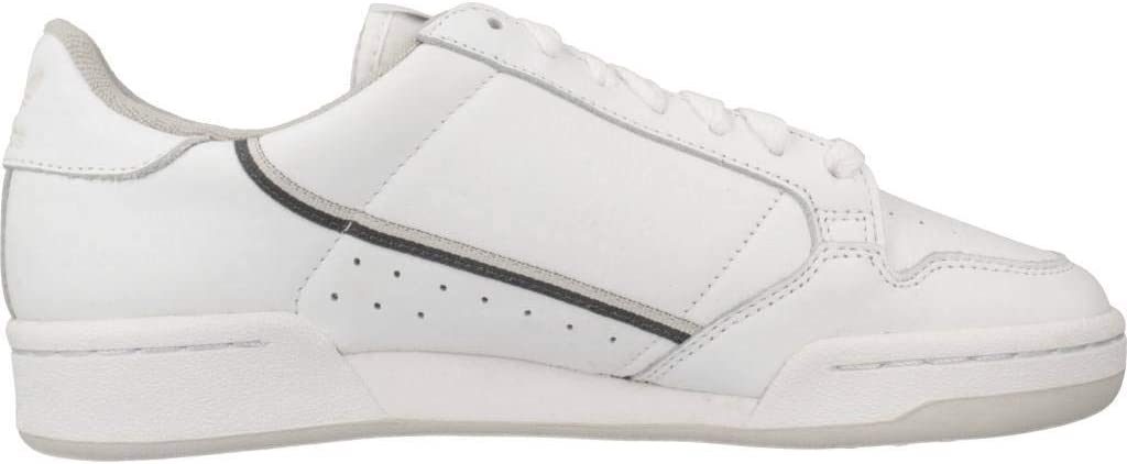 Adidas Continental 80 Sneakers voor heren, Bianco Wit Ftwr White Grey Five Grey One F17 Ftwr White Grey Five Grey One F17