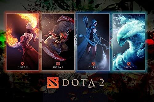 Amazon Com Run Fashion Dota 2 Heroes Art Silk Wall Scroll Posters