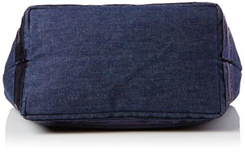 Vanessa Bruno Damen Cabas Medium + Denim Et Paillettes Tote, Blau (Denim), 16x33x49 centimeters