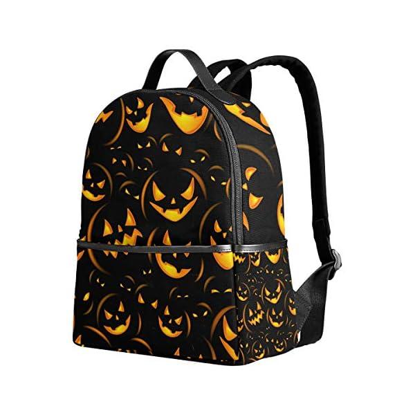 Halloween zucca nero zaino spaventoso per donne adolescenti ragazze borsa alla moda borsa libreria bambini viaggio… 1 spesavip