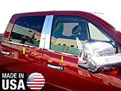 Made In USA! MaxMate Fit 09-2015 Dodge Ram Crew/Mega Cab 4PC Stainless Steel Chrome Window Sill Overlay