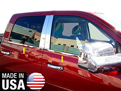 (Made in USA! Works with 2009-2018 Dodge Ram Crew/Mega Cab 4PC Window Sill Trim 12 2013 2014 2015 2016)
