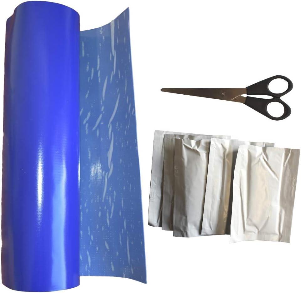 Boni-Shop  PVC Planen Reparaturset 0,30 x 1,50 m inkl. 5 Reinigungst/ücher + 1 Schere gr/ün