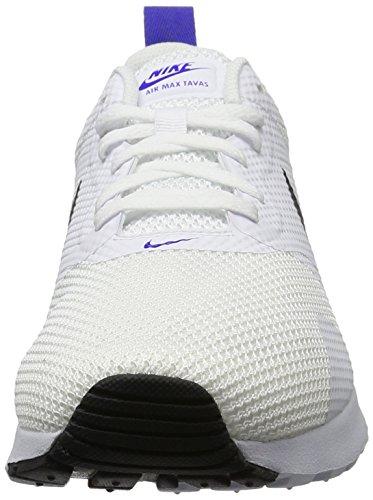 Zapatillas Nike Hombres Air Max Tavas Blanco Negro Paramount Blue 104