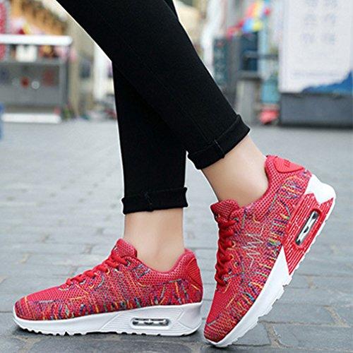 Confortable Femme Sur Mesh Respirant Loisir 44 36 Sneakers Lfeu Multicolore Sport Chemin Chaussure Basket Pour Rouge Basse Homme q7wEvg1