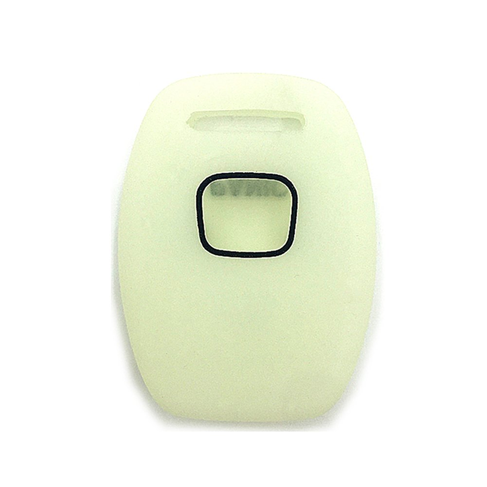 Ezzy Auto Luminous Rubber Silicone Key Fob Case Key Cover Key Jacket Skin Protector fit for Honda Accord 3+1 Buttons