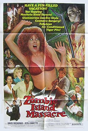 Zombie Island Massacre 1984 Authentic, Original Horror/Sci-Fi 27×41 One Sheet Movie Poster