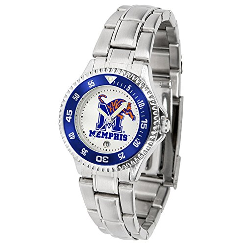 (SunTime Memphis Tigers Competitor Ladies Watch with Steel Band)