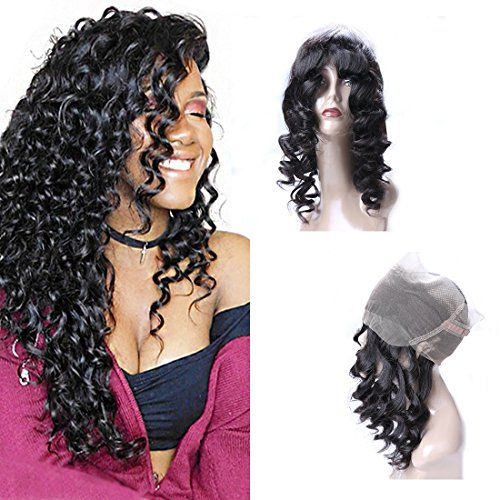 DAIMER HAIR 360 Lace Frontal Brazilian Loose Wave Natural Hairline With Baby Hair Unprocessed Remy Virgin Soft Hair Natural Color 14 -
