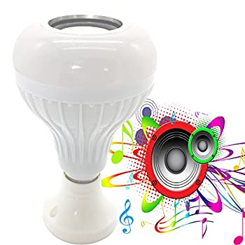 RGB Bluetooth Music Bulb LED Smart Light Built-in Audio Speaker Led Light Ball with Wireless Speaker Lamp Changing Color Controlled