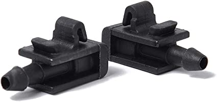 Eleganantamazing - 1 par de boquillas para limpiaparabrisas Delantero de Coche Jet 8200082347 para Renault Megane 2: Amazon.es: Coche y moto