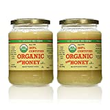 YS Organic Bee Farms CERTIFIED ORGANIC RAW HONEY 100% CERTIFIED ORGANIC HONEY Raw, Unprocessed, Unpasteurized - Kosher 32oz (Pack of 2) by YS Organic