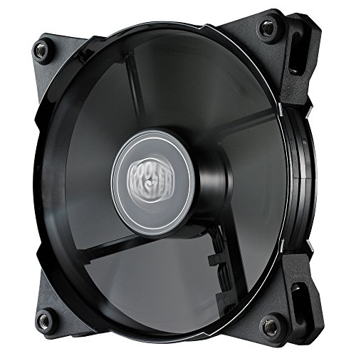 Black Case Fan - Cooler Master JetFlo 120 - POM Bearing 120mm High Performance Silent Fan for Computer Cases, CPU Coolers, and Radiators (Black)