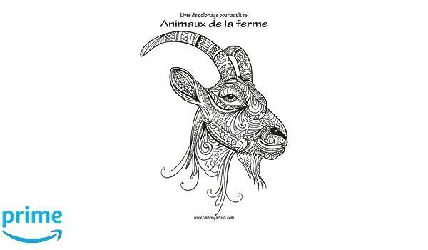 Coloriage Adulte Ferme.Amazon Com Livre De Coloriage Pour Adultes Animaux De La Ferme 1