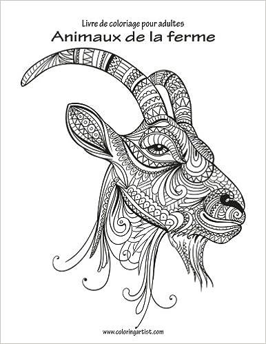Amazon Com Livre De Coloriage Pour Adultes Animaux De La Ferme 1