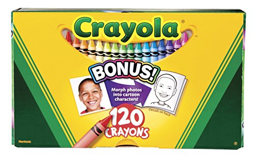 Crayola Non-Toxic Crayon, 3-5/8 x 5/16 in, Assorted Color, Set of 120]()