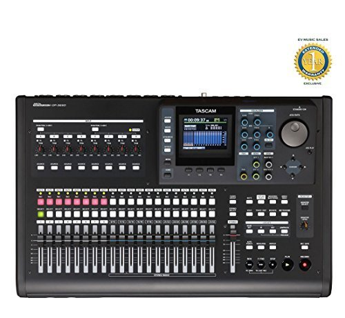 32-Track Digital Portastudio Recorder with 1 Year Free Extended Warranty - Tascam DP-32SD