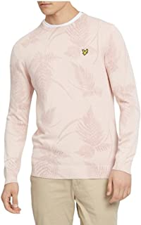 Lyle & Scott Lyle & Scott | KN809V Fern Print Jumper - Dusty Pink