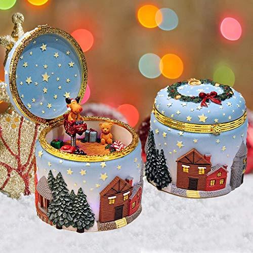 ZHAS Hong Yi Fei-Shop-Musical Boxes & Figurines Glowing Elk and Christmas Tree Music Box, 18-Tone Music Box, Creative, Music Wish You a Merry Christmas (Color : B)