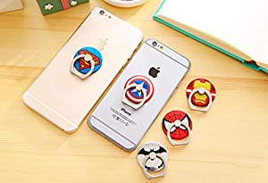 ZOEAST(TM) Super Marvel Hero Ring Universal 360° Rotating Phone Buckle Tablet Finger Grip Ring Stand Holder Kickstand Tablets iPhone 4 4S 5 5S 6 6S SE 7 Plus Samsung iPad iPod at Gotham City Store