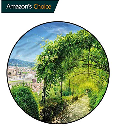(RUGSMAT Italian Round Rug,Boboli Gardens in Florence Foam Mat Living Room Decor Diameter-55)