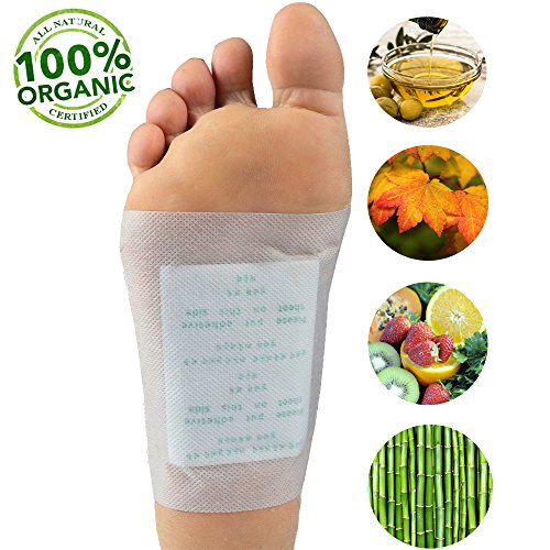 77f634fdf6 BKP™ Tropical Detox Foot And Body Pads - Remove Toxins, 100% Organic Bamboo  Adhesive Patches, Aromatherapy, Deep Sleep Aid, Cleanse, Pain Relief, ...
