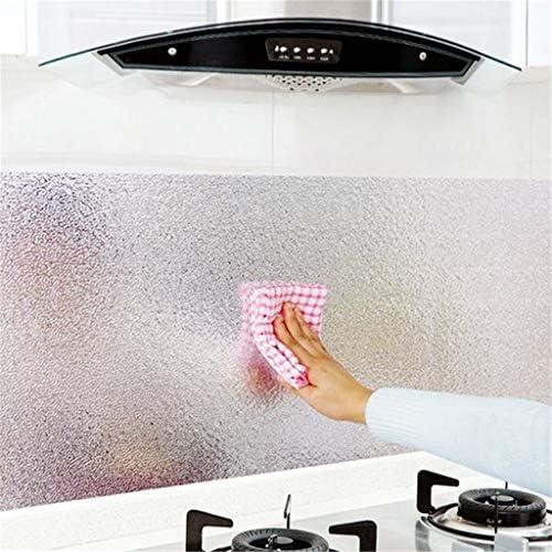 OGGID Vinilo Adhesivo para Encimera de Cocina a Prueba de Aceite, Chapa Plancha Aluminio Autoadhesivo Etiqueta de la Pared, Pegatinas de Estufa Gabinete: Amazon.es: Bricolaje y herramientas